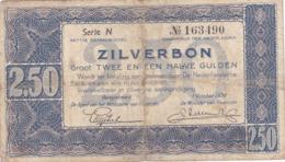 Pays-Bas - Billet De 2.50 Gulden Zilverbon - 1er Octobre 1938 - [2] 1815-… : Regno Dei Paesi Bassi