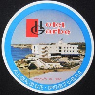 HOTEL PENSAO RESIDENCIAL GARBE ALGARVE TAG DECAL STICKER LUGGAGE LABEL ETIQUETTE AUFKLEBER PORTUGAL - Hotel Labels