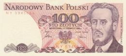 Pologne - Billet De 100 Zlotych - 1er Décembre 1988 - Ludwik Warynski - Neuf - Pologne