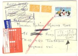 23582 - Pour Le ROYAUME  UNI Avec étiquettes - Marcofilie (Brieven)