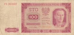 Pologne - Billet De 100 Zlotych - 1er Juillet 1948 - Polonia