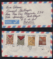 Peru 1980 Airmail Cover To PORTO ALEGRE Brazil Poncho Stamps - Pérou