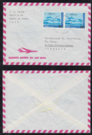 Peru 1990 Airmail Cover To HERBRECHTINGEN Germany 2x Red Cross Ship Overprint - Perù