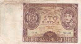 Pologne - Billet De 100 Zlotych - Jozef Antoni Poniatowski - 9 Novembre 1934 - Polonia