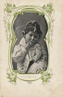 Portrait Garconnet Fumant Decor Style Art Nouveau Le Pain Sera Cher RV - Portraits