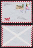 Peru 1997 Airmail Cover To Germany Olympia Atlanta 1996 Stamp - Perù