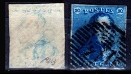 Belgio-353 - Emissione 1849 (o) Used - Senza Difetti Occulti. - 1849-1850 Medaglioni (3/5)