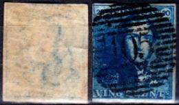 Belgio-355 - Emissione 1849 (o) Used - Senza Difetti Occulti. - 1849-1850 Medaglioni (3/5)