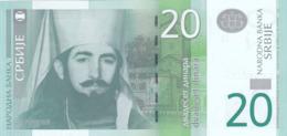 Serbie - Billet De 20 Dinara - 2013 - Petar II Petrovic Njegos - Neuf - Servië