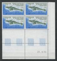 TAAF 1991  N° 161 ** Bloc De 4 Coin Daté Neuf MNH Superbe C 18.50 € Faune Marine Poissons Champrocephalus Fishes - Tierras Australes Y Antárticas Francesas (TAAF)