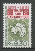 TAAF 1991 N° 162 ** Neuf MNH Superbe C 4,60 € Traité De L'Antarctique Carte Du Continent - Tierras Australes Y Antárticas Francesas (TAAF)
