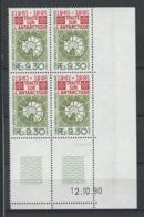 TAAF 1991 N° 162 ** Bloc De 4 Coin Daté Neuf MNH Superbe C 23 € Traité De L'Antarctique Carte Du Continent - Tierras Australes Y Antárticas Francesas (TAAF)
