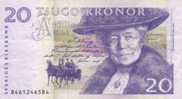 Suède - Billet De 20 Kronor - Selma Lagerlof - Non Daté - P63c - Schweden