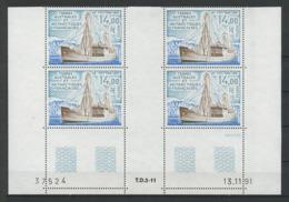 TAAF 1992 N° 169 ** Bloc De 4 Coin Daté Neuf MNH Superbe C 32 € Bateaux Le Tottan 1950 Navire Expédition Polaire - Tierras Australes Y Antárticas Francesas (TAAF)