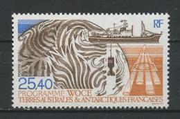 TAAF 1992 N° 170 ** Neuf MNH Superbe C 12.50 € Bateaux Programme WOCE Navire De Recherche Ships Carte - Tierras Australes Y Antárticas Francesas (TAAF)