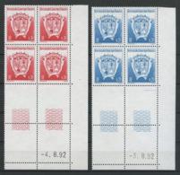 TAAF 1993 N° 171/172 ** Bloc De 4 Coins Datés Neufs MNH Superbes  Blasons Armoiries Du Territoire Coats Of Arms - Tierras Australes Y Antárticas Francesas (TAAF)