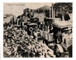 """MILITARIA . """" RUINES SUR LA VOIE SACRÉE DE VERDUN . LE JOUR """" . FICHE HISTOIRE 1914/1918 - Réf. N°23079 - - Historia"""