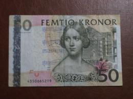 Suède - Billet De 50 Kronor - Jenny Lind - Non Daté - P67 - Suède