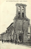 VILLENEUVE SUR LOT  Eglise St Etienne Animée  RV - Villeneuve Sur Lot