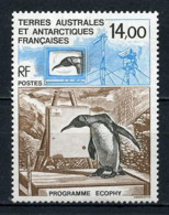 TAAF 1993  N° 180 ** Neuf MNH Superbe C 6,40 € Faune Oiseaux Birds Manchots Ecophy Téléviseur Caméra Fauna Anima - Tierras Australes Y Antárticas Francesas (TAAF)