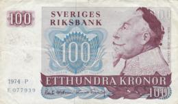 Suède - Billet De 100 Kronor - Gustav II Adolf - 1974 P - P54b - Schweden