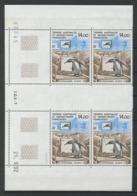 TAAF 1993  N° 180 ** Bloc De 4 Coin Daté Neuf MNH Superbe C 32 € Faune Oiseaux Birds Manchots Ecophy Téléviseur - Tierras Australes Y Antárticas Francesas (TAAF)