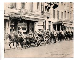"""MILITARIA . """" L'ARMÉE ALLEMANDE À BRUXELLES """" . FICHE HISTOIRE 1914/1918 - Réf. N°23087 - - Historia"""