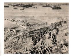 """MILITARIA. """" L'ARMÉ D'ORIENT. DÉBARQUEMENT À LEMNOS """" . FICHE HISTOIRE 1914/1918 - Réf. N°23090 - - Historia"""