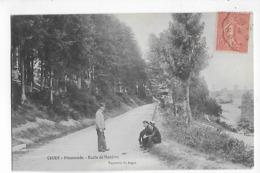 69  -  CPA  De  COURS  -  Promenade  ,  Route  De  Mardore  En  1906  (  Animée  ) - Cours-la-Ville