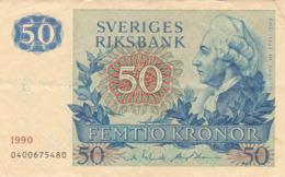 Suède - Billet De 50 Kronor - Gustav III - 1990 - P53d - Schweden
