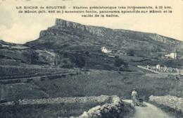 LA ROCHE De SOLUTRE  Station Préhistorique Vigneron Avec Sa Brouette RV - Francia