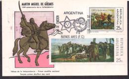 Argentina - 1971 - FDC - Martín Miguel De Güemes - Héros De L'indépendance - FDC