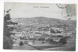 69  -  CPA  De  COURS  -  Vue  Générale  En  1905 - Cours-la-Ville