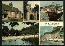 22  LAMBALLE - ST SAINT ALBAN Et La Côte  L'église, La Chapelle St Jacques, Le Barrage, Multivues Cpm Voyagée En 96 - Lamballe