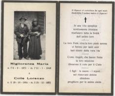 Santino Necrologio Di Una Coppia Di Sposi (1871-1948 E 1864-1951). Avis Deces, Sterbebild, Death Card, Santino - Avvisi Di Necrologio