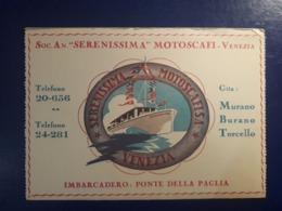 PUBILICITE NAUTIQUE VENEZIA  MURANO BURANO TORCELLO VEDETTE DE TOURISTIQUE - Reclame