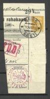 Estland Estonia 1935 Money Card Cut Out O PAIDE + Kontroll Michel 81 - Estland