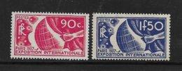 France Timbres De 1936 N°326/27 Neuf **  Gomme Superbe Voir Scans (cote 113€) - France