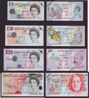 (Replica)BOC Bank Training/test Banknote,United Kingdom Great Britain POUND C Series 4 Different Note Specimen Overprint - Vals En Specimen