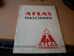 Atlas Maschinen Kjobenhavn N  Dampfturbinen, Dampfmaschinen, Speiseeisanlagen. Kuhlanlagen .Margarinemaschinen....... - Reclame