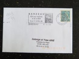 SARZEAU - MORBIHAN - FLAMME FETE DE L'HUITRE ET DE LA MER 1999 SUR TYPE MERCURE - Maschinenstempel (Werbestempel)