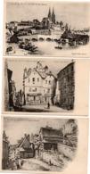 Saint-Lô Qui S'en Va - Série De 9 Cartes - édit Papeterie Cordier - Grouais Porte-au-lait - Rue Des Prés Pont Sur Vire - Saint Lo