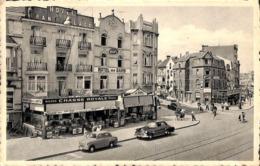 De Panne - La Panne - Marché Et Avenue Des Pêcheurs, Markt En Visserslaan (Hôtel Café Oldtimer) - De Panne