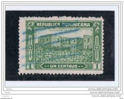 REPUBBLICA  DOMINICANA:  1928/29  ROVINE  DI  ALCAZAR  -  1 C. VERDE  US. -  YV/TELL. 216 - Dominikanische Rep.