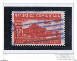 REPUBBLICA  DOMINICANA:  1950  P.A.  HOTEL  S. CRISTOBAL  -  37 C. ROSSO-CARMINIO  US. -  YV/TELL. 81 - Dominikanische Rep.