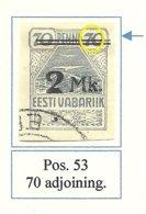 Estland Estonia 1920 Michel 20 ERROR Abart E: 6 (Pos. 53) Auf Urmarke O - Estland