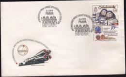 Czechoslovakia 1979 / 1st Anniversary Of Russian-Czech Space Flight - INTERKOSMOS - FDC & Commemoratives