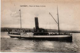 Carteret : Départ Du Bateau De Jersey - Carteret