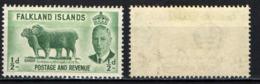 FALKLAND - 1952 - EFFIGIE DEL RE GIORGIO VI E PECORE - MNH - Falkland