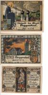 Germania Gemany Notgeld Deggendorf  25 + 25 + 50 Pfennig 1918 1920  LOTTO 1379 - Duitsland